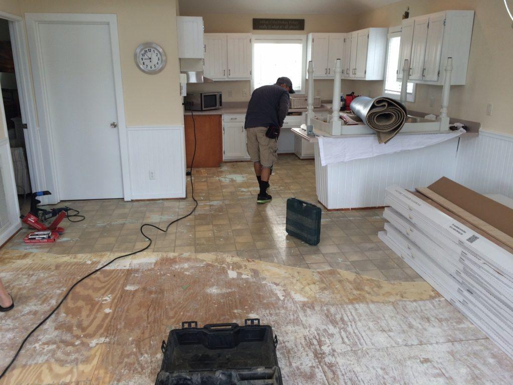 Cole wood floors before